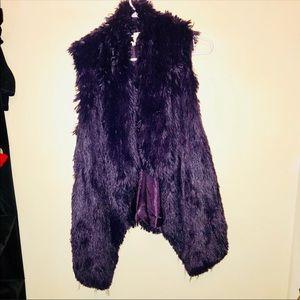 Jackets & Blazers - Purple Faux Fur Vest